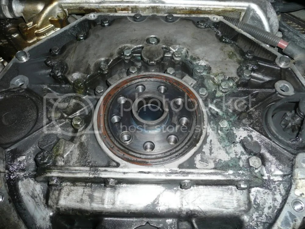 medium resolution of third pic after ordering the new gasket from bmw i drained the coolant system and proceeded to take off the cover