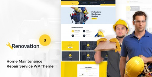 Download Nulled Renovation v3.0.1 - Home Maintenance, Repair Service Theme snapshot