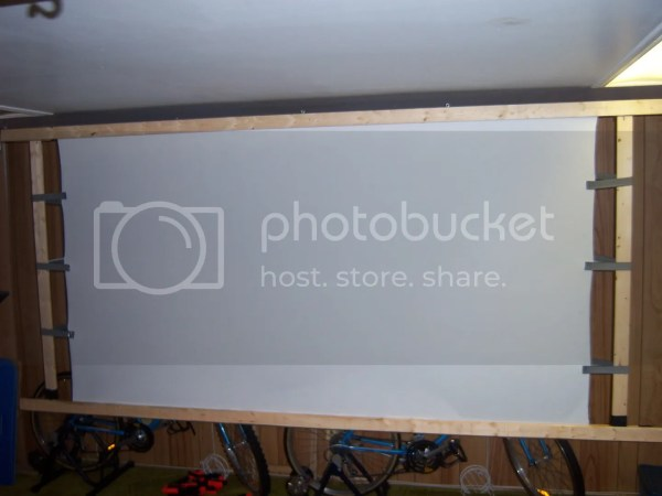 DIY Retractable Projector Screen
