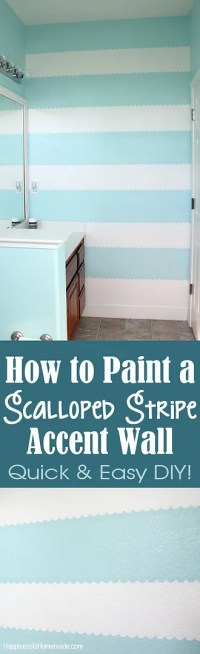 How to Easily Paint a Scalloped Stripe Accent Wall ...