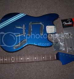 kurt cobain competition build fender mustang discussion jag luckily the pickguard was already loaded and the [ 1024 x 768 Pixel ]