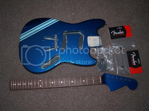 small resolution of kurt cobain competition build fender mustang discussion jag luckily the pickguard was already loaded and the