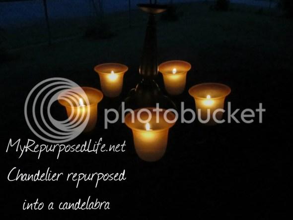 candelabra from a chandelier
