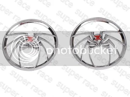 SRC Chrome Spider Speaker Grills Cover for Harley Touring