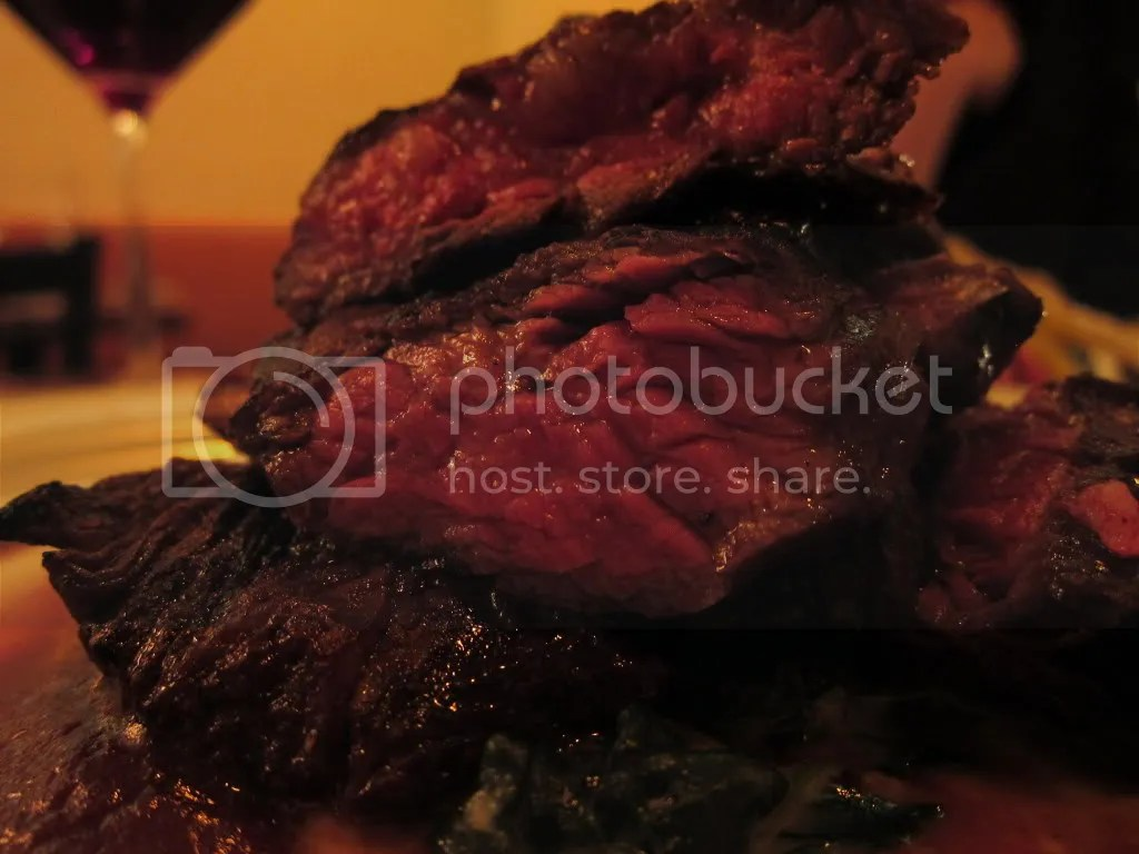 Grilled Prime Creekstone Hanger Steak with Sunchoke Creamed Spinach ...