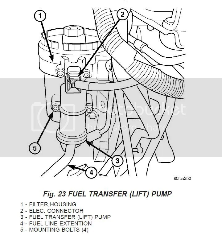 2007 Dodge Ram 2500 Fuel Filter Location