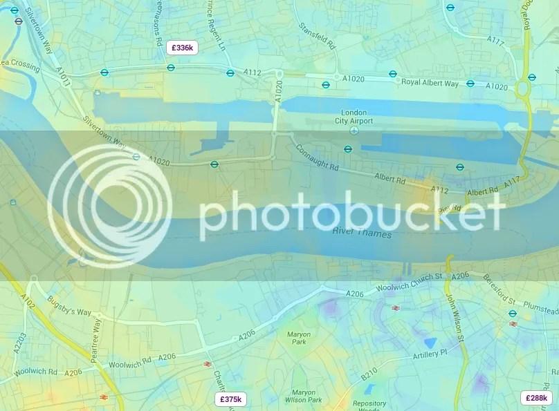 房产网站Zoopla的伦敦房价热图