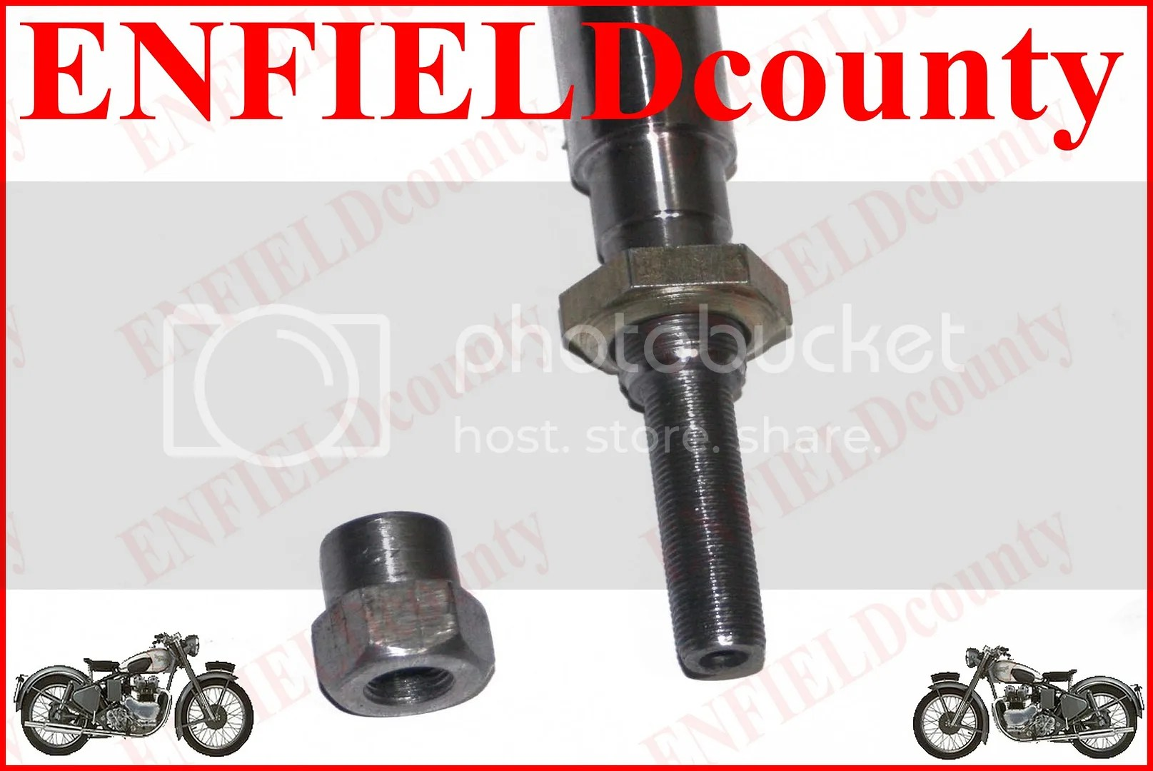 replacement chair spindles uk gray glider new early royal enfield front wheel girder fork spindle