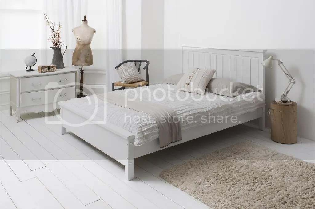 Double Bed in White 46 Wooden Frame Cheltenham  eBay