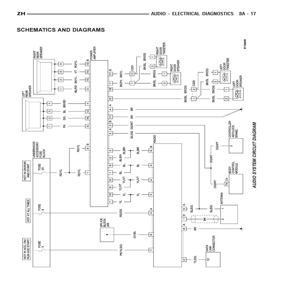 Chrysler Crossfire Radio Wiring Diagram, Chrysler, Free