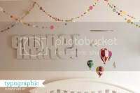 How Joyful Blog | Nursery: typographic baby name wall-art