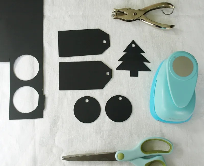 easiest chalkboard tags ever