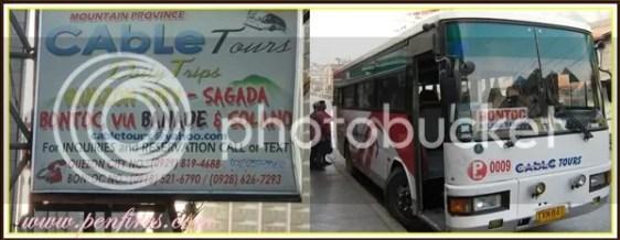 Sagada Tour - Cable Bus to Bontoc