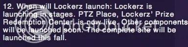 Lockerz - Launch faq