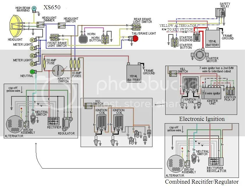 yamaha xs650 wiring diagram 1996 land cruiser some diagrams | forum