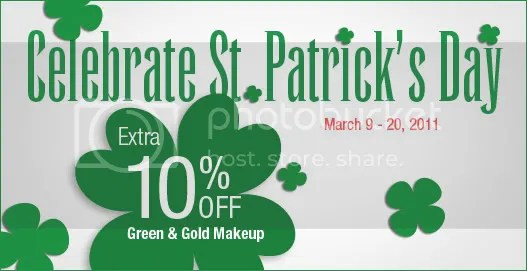 10% off St. Patrick's Day makeup