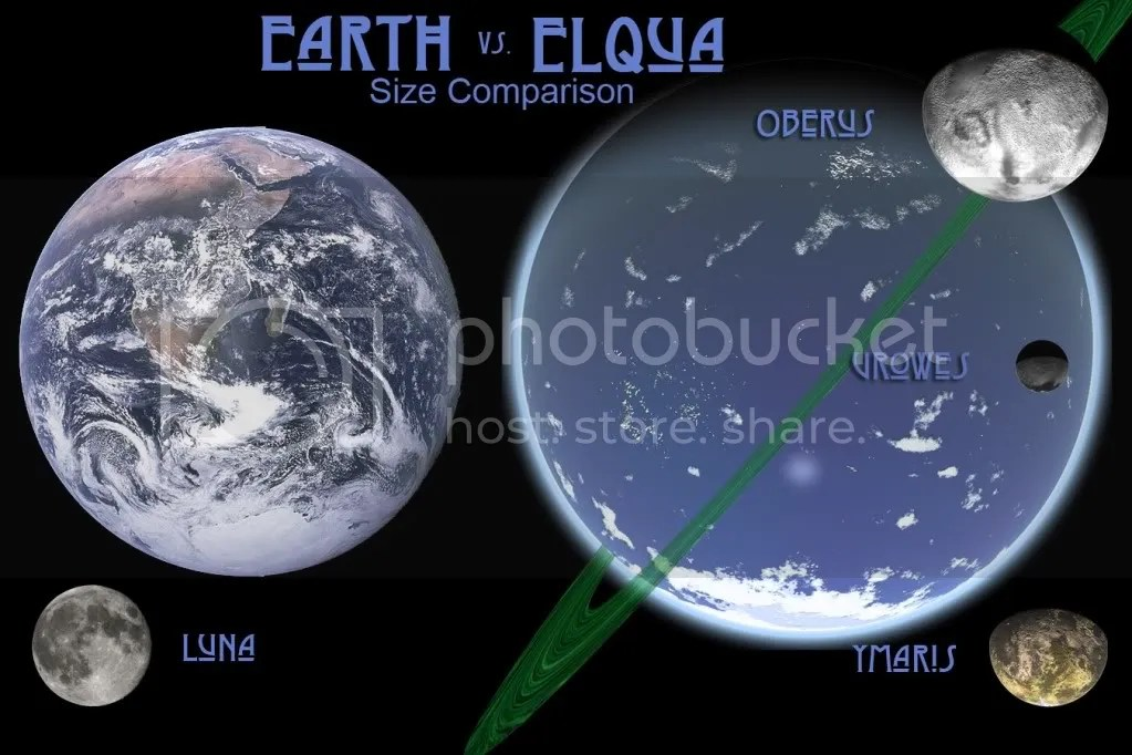 Earth vs. Elqua: Size Comparisson