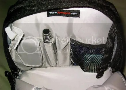 Back of the personal effects compartment