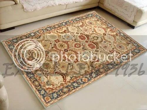 Pottery barn 9x12 12x9 Eva persian floral wool area rug  eBay