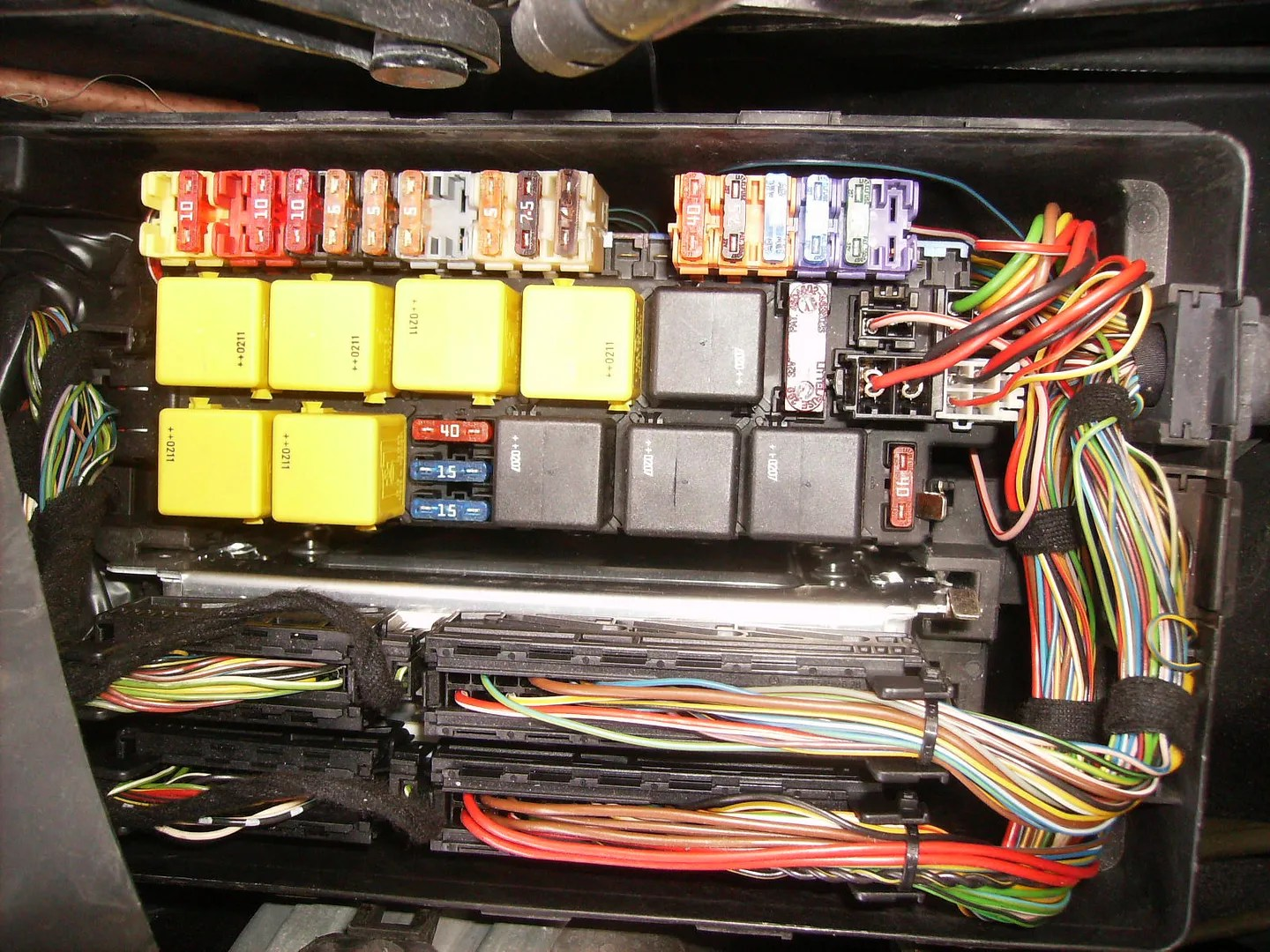 hight resolution of i also looked in the trunk alongside the cd changer and there are no access panels for a fuse block i think there s something by the battery but that s on