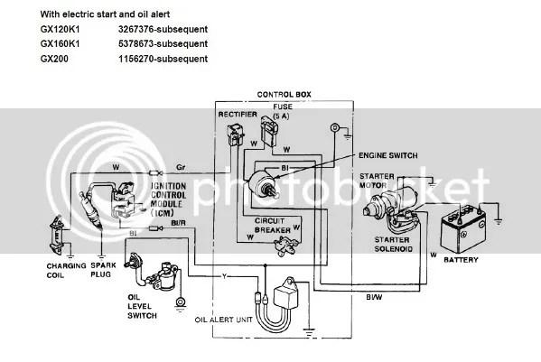 honda gx270 wiring diagram gx390 electric start honda