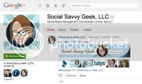 Social Savvy Geek Google + Page