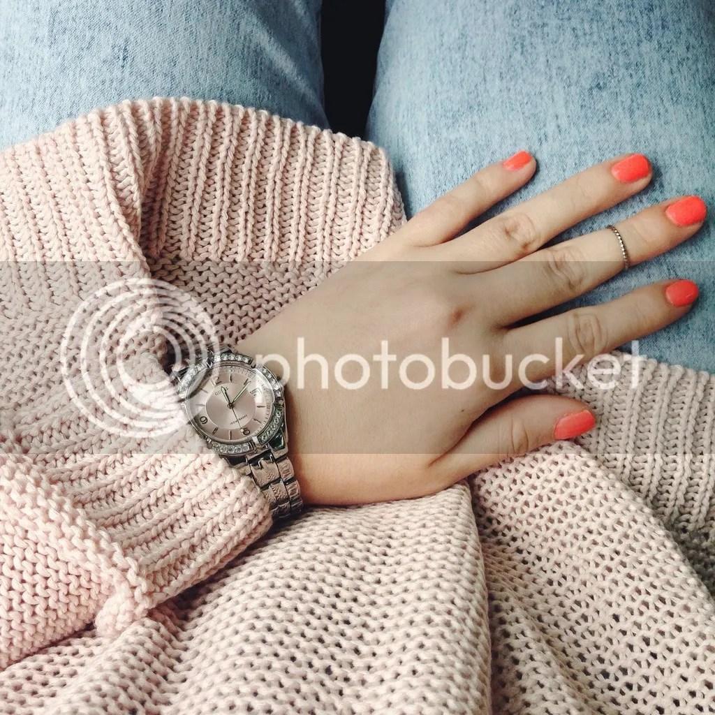 h&m pink sweater spring 2015 cheryl deni