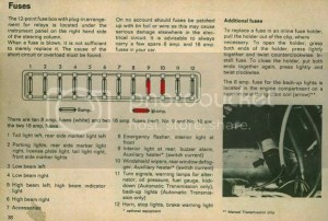 Fuse box layout for 1979 Type 2? | The Late Bay