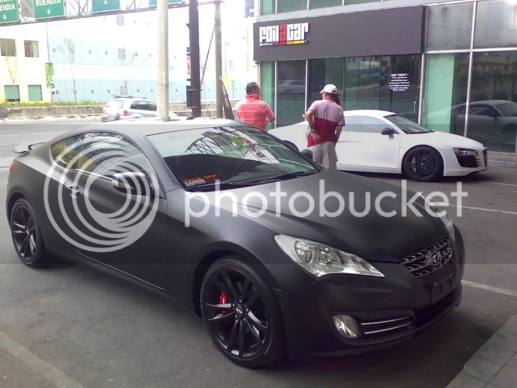 Matte Black Genesis Meets Matte White R8 Hyundai
