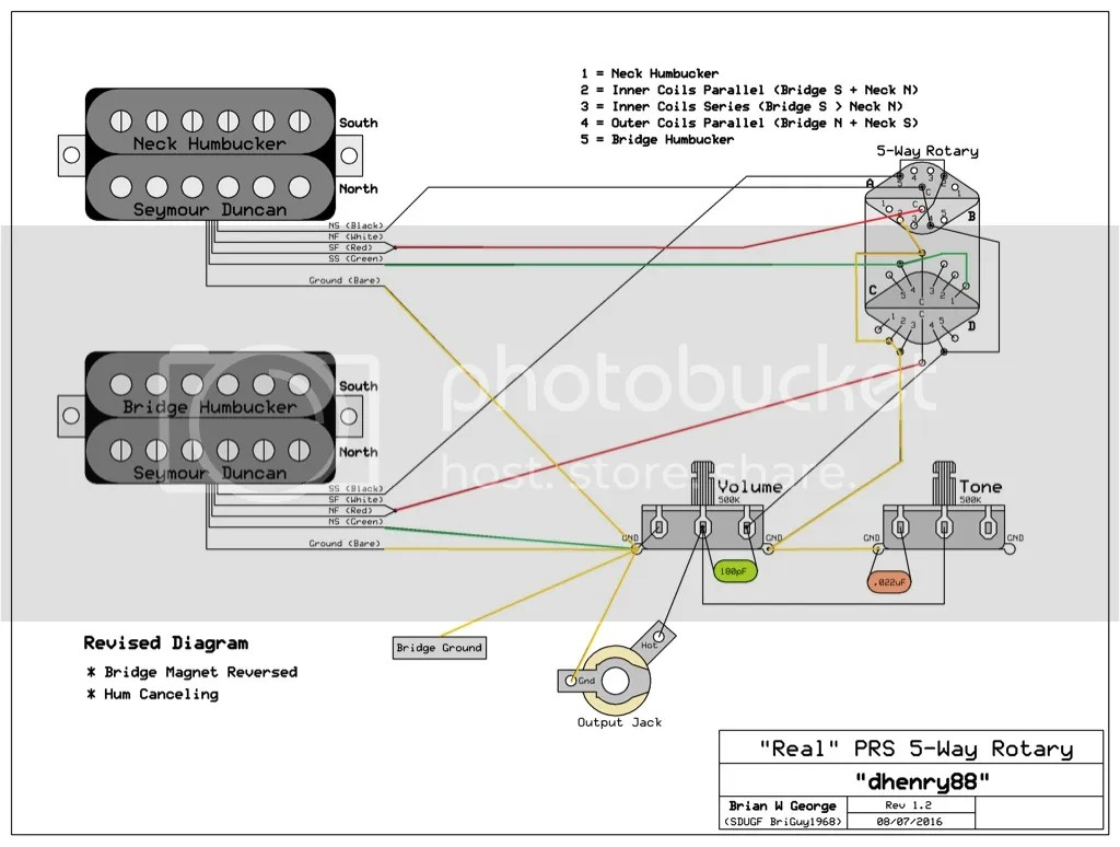 hight resolution of 80 s influenced wiring scheme on ses official prs guitars forum rh forums prsguitars com 1 humbucker 2 pole 4 position rotary 12 position rotary switch