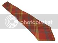 RRL Ralph Lauren Orange Plaid Western Polo Double RL Neck Tie