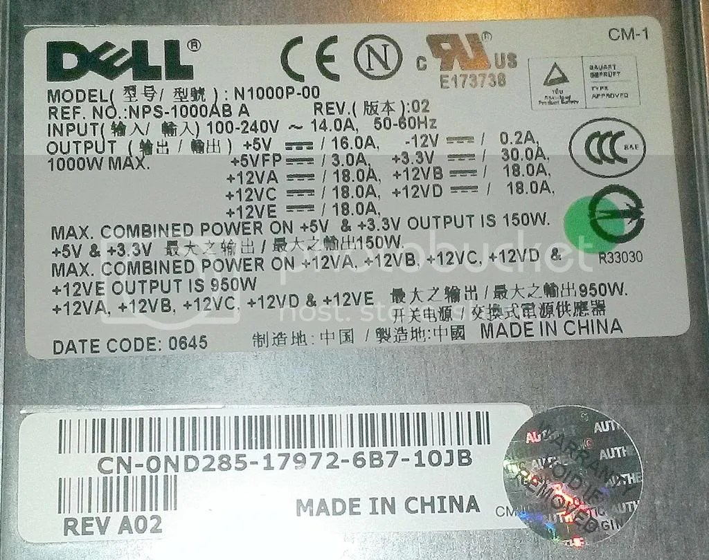 hight resolution of wiring diagram for dell 690 power supply online wiring diagram dell psu pinout 1000w dell power supply wiring diagram
