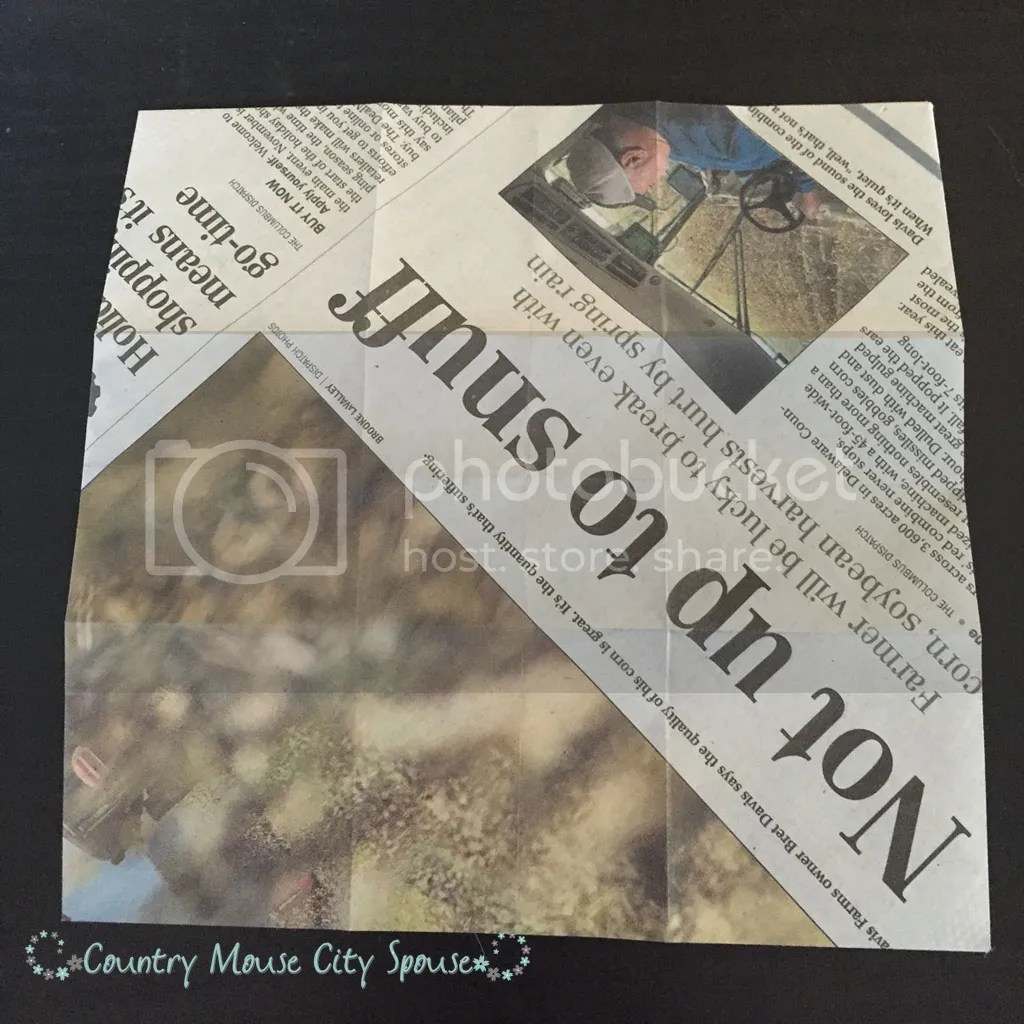 Country Mouse City Spouse DIY Upcycled Newspaper Seed Starting Pots