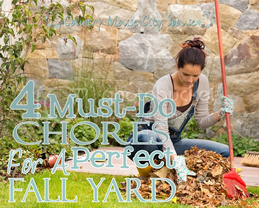 4 Must-Do Chores for a Perfect Fall Yard- Country Mouse City Spouse We all know to rake the leaves and store summer items for winter, but are you neglecting these 4 things?
