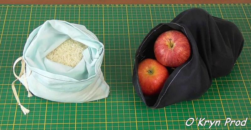 tutoriel vidéo pour coudre un sac à vrac