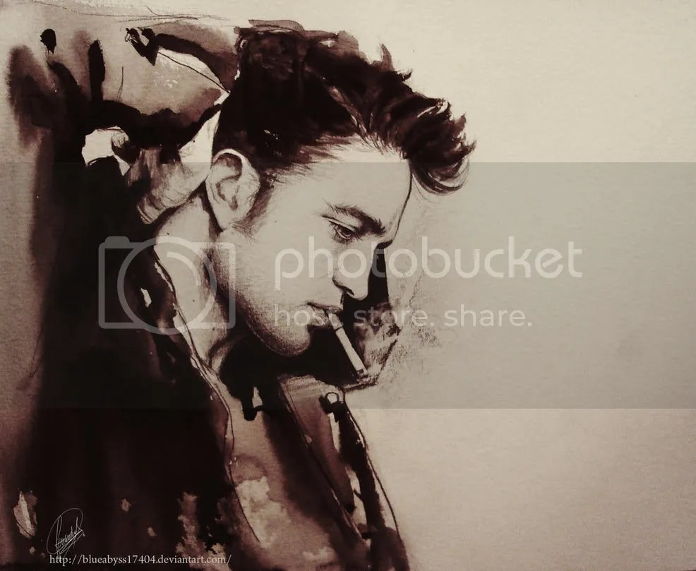 art,painting,Robert Pattinson