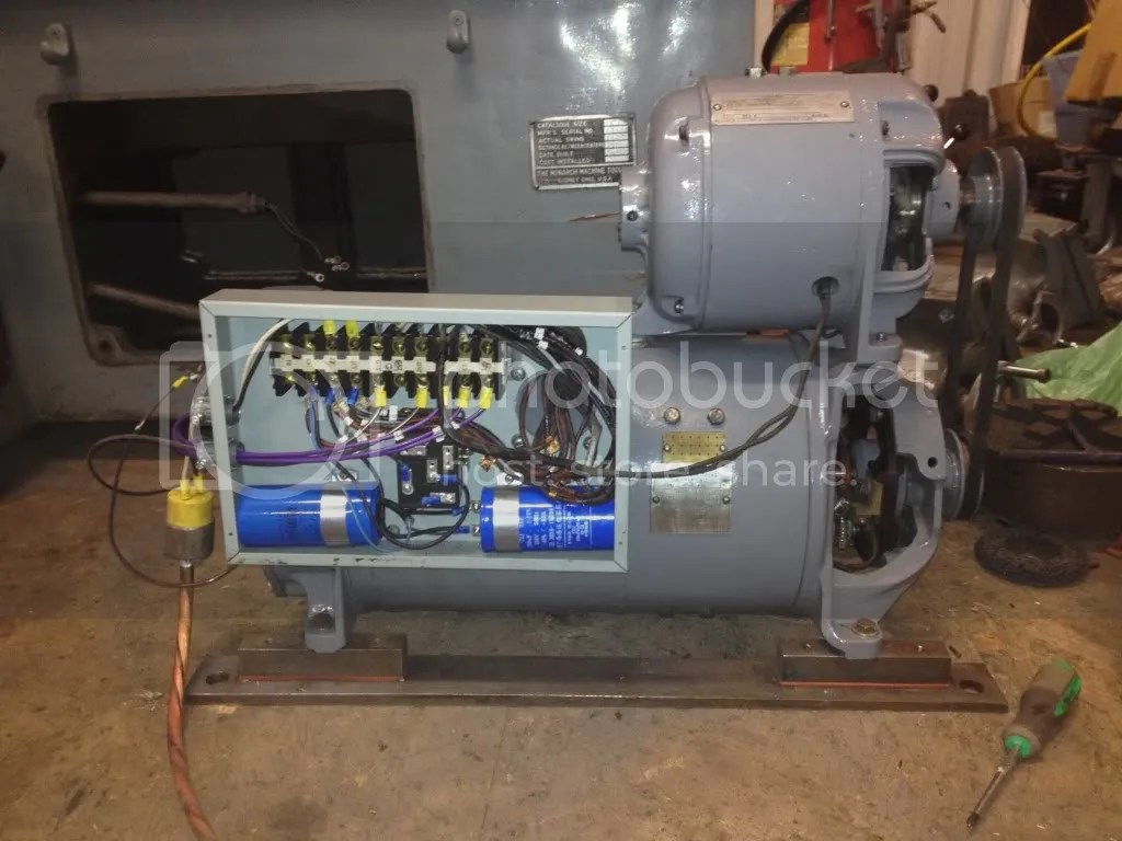 3 Phase Electric Motor Wiring Diagram Converting Monarch 10ee Motor Generator 3 Phase To Single