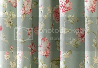 Apsley Vintage Chic Style Floral Pencil Pleat Lined