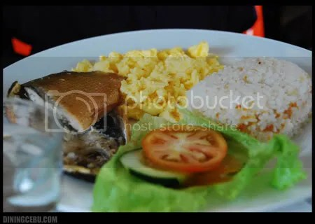 UCC Cafe Terrace, one of the restaurants in Cebu, milk fish and egg breakfast