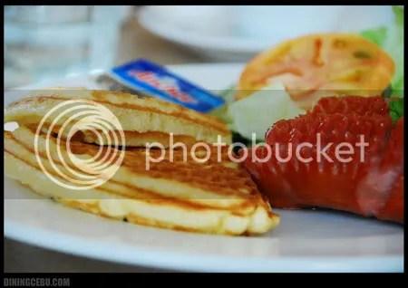 Cebu restaurant UCC Cafe Terrace breakfast waffle and sausage
