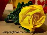trandafir origami