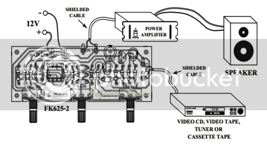 FA625: TONE CONTROL MONO CIRCUIT KIT FOR POWER AMPLIFIER