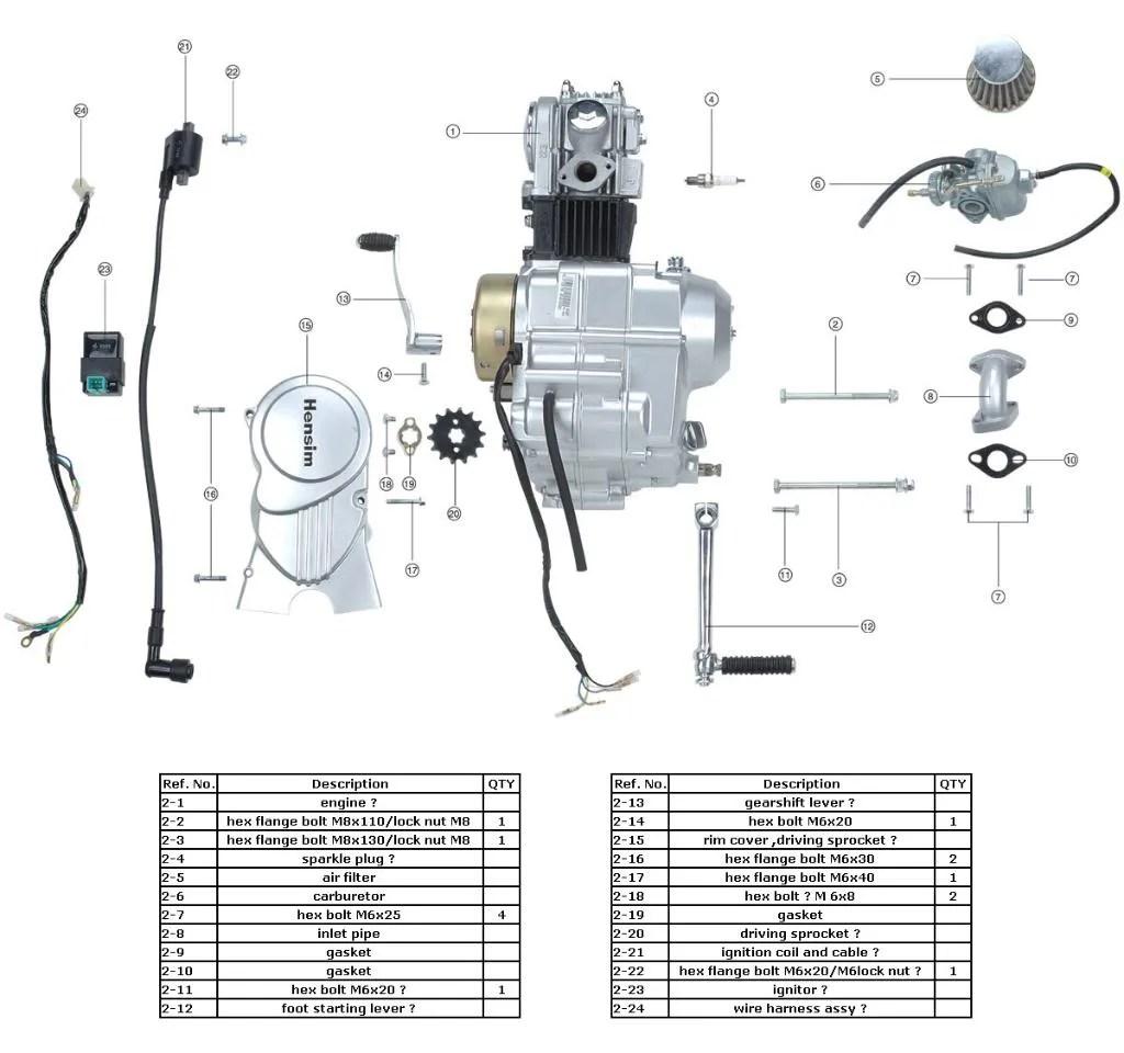 49cc 4 Stroke Engine Parts Diagram