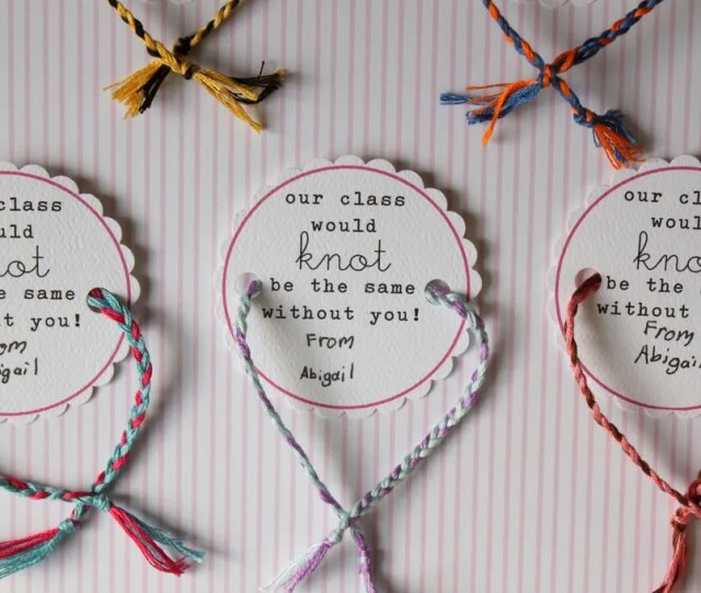 Non Candy Valentines Day Classroom Treats Friendship Bracelets With Free Printable From Dandee A