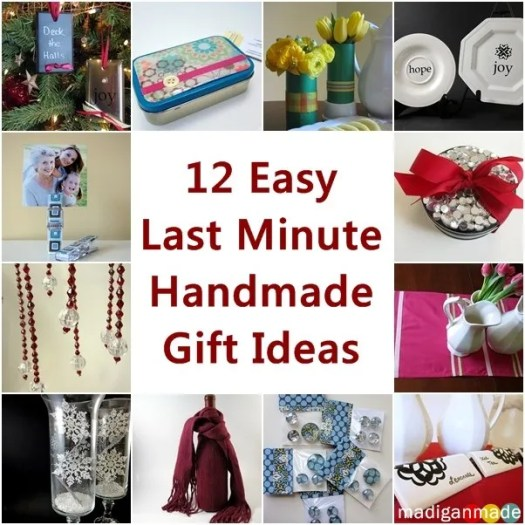 12 easy last minute handmade holiday gift ideas Easy gift ideas for friends