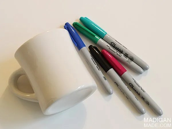 DIY written sharpie mug tutorial
