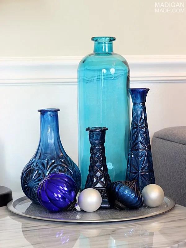 cobalt blue holiday decor idea