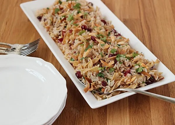 Simple cranberry almond rice pilaf recipe (plus 11 other holiday meal ideas!)