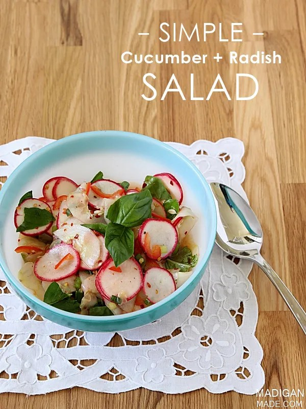 simple (and spicy!) cucumber and radish salad