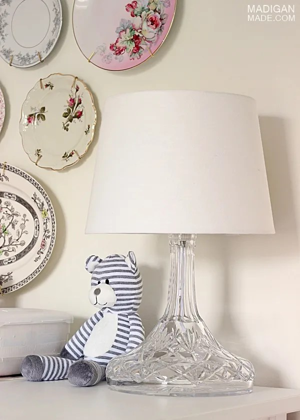 DIY crystal lamp for baby's room decor